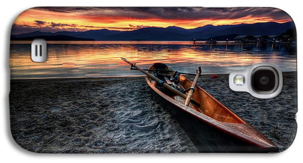 Idaho Photographs Galaxy S4 Cases - Sunrise Boat Galaxy S4 Case by Matt Hanson