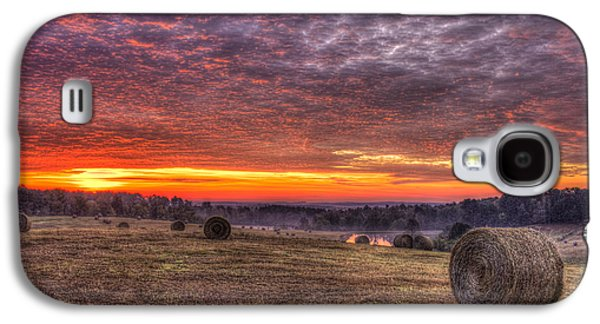 Sunrise Hayfield Walker Church Road Valley Galaxy S4 Case by Reid Callaway