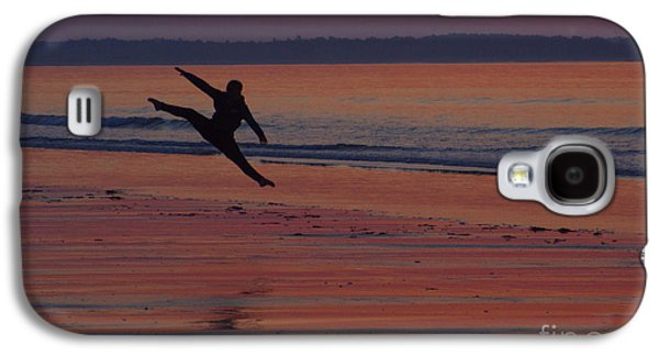 Girl Galaxy S4 Cases - Sunrise Leap Galaxy S4 Case by Ray Konopaske