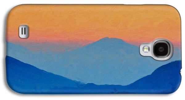 Blue Abstracts Galaxy S4 Cases - Sunrise over Blue Mountains Galaxy S4 Case by Serge Averbukh