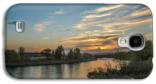 River Flooding Galaxy S4 Cases - Sunrise Over The Payette River Galaxy S4 Case by Robert Bales