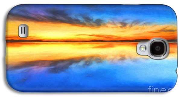 Colorful Abstract Galaxy S4 Cases - Sunrise Galaxy S4 Case by Veikko Suikkanen