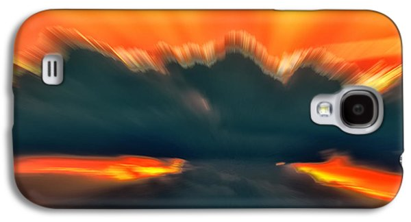 Abstracts Galaxy S4 Cases - Sunset Abstract Galaxy S4 Case by Chris Flees