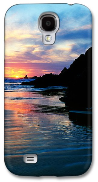 Sunset And Clouds Over Crescent Beach Galaxy S4 Case by Panoramic Images