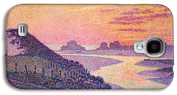 Sunset At Ambleteuse Pas-de-calais Galaxy S4 Case by Theo van Rysselberghe