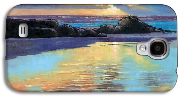 Janet King Galaxy S4 Cases - Sunset at Havika Beach Galaxy S4 Case by Janet King