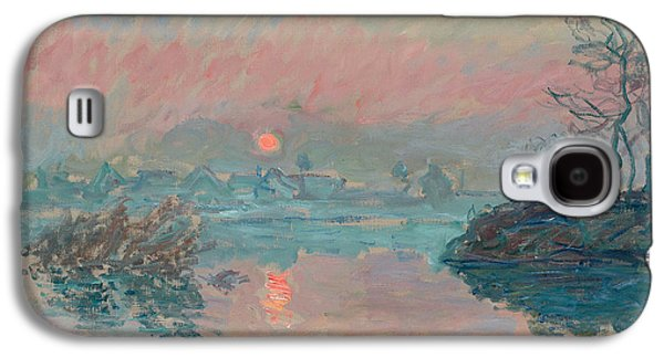 Sunset At Lavacourt Galaxy S4 Case by Claude Monet