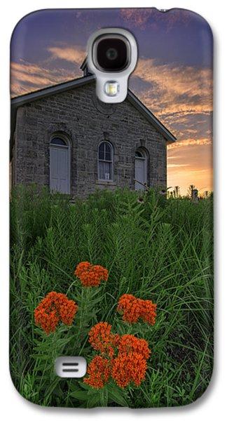 Sunset At Lower Fox Creek Schoolhouse Galaxy S4 Case by Rick Berk
