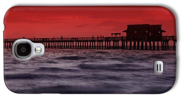 Sunset At Naples Pier Galaxy S4 Case by Melanie Viola