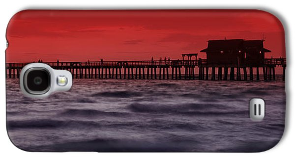 Tranquil Photographs Galaxy S4 Cases - Sunset at Naples Pier Galaxy S4 Case by Melanie Viola