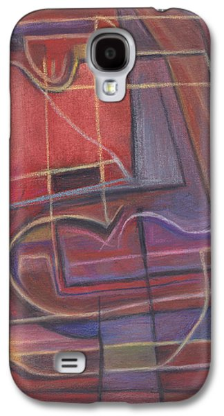 Sunset Abstract Pastels Galaxy S4 Cases - Sunset at Sea Galaxy S4 Case by Tom Kecskemeti