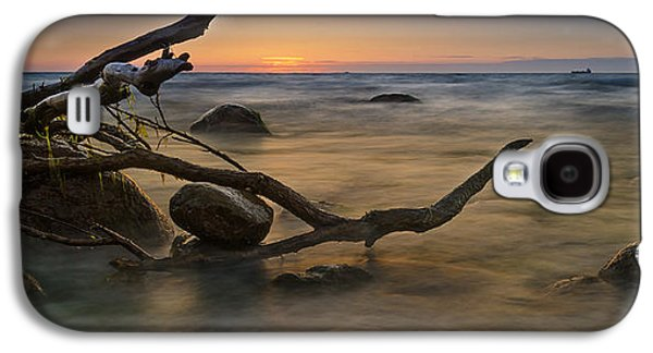 Alga Galaxy S4 Cases - Sunset At The Baltic Sea Galaxy S4 Case by Dirk Petersen