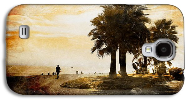 Interior Scene Mixed Media Galaxy S4 Cases - Sunset Beach Galaxy S4 Case by Clare Bevan