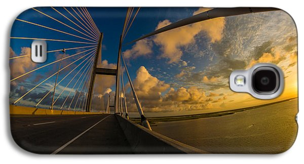 Island Stays Galaxy S4 Cases - Sunset Between Mighty Cables Galaxy S4 Case by Chris Bordeleau