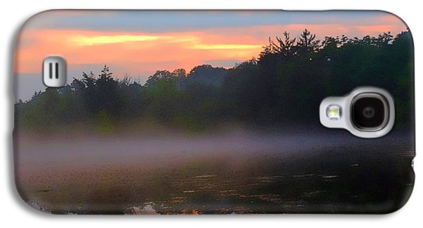 Sunset Abstract Galaxy S4 Cases - Sunset Dreams In The Mist Galaxy S4 Case by Tami Quigley