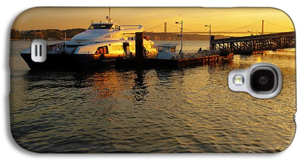 River View Galaxy S4 Cases - Sunset Ferryboat Galaxy S4 Case by Carlos Caetano
