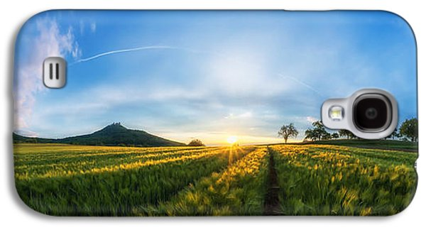 Surreal Landscape Galaxy S4 Cases - Sunset Fields Galaxy S4 Case by Jonathan Sautter