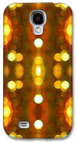 Abstract Digital Art Paintings Galaxy S4 Cases - Sunset Glow 2 Galaxy S4 Case by Amy Vangsgard