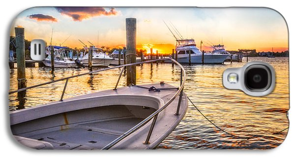 White River Scene Galaxy S4 Cases - Sunset Harbor Galaxy S4 Case by Debra and Dave Vanderlaan