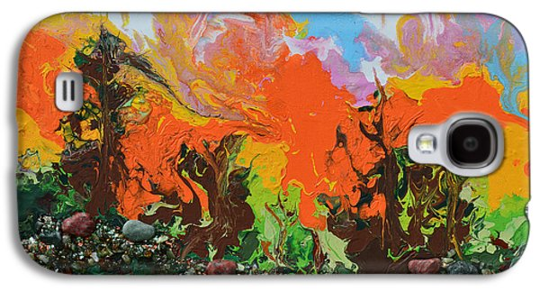 Sunset Abstract Mixed Media Galaxy S4 Cases - Sunset Hike Galaxy S4 Case by Donna Blackhall