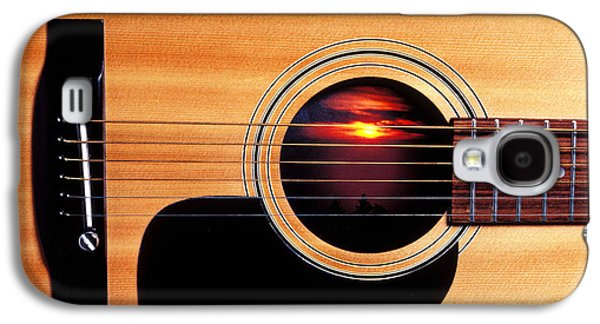 Sunset In Guitar Galaxy S4 Case by Garry Gay