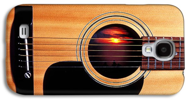 Concept Photographs Galaxy S4 Cases - Sunset in guitar Galaxy S4 Case by Garry Gay