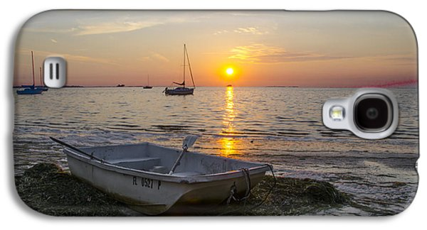 Rowboat Digital Art Galaxy S4 Cases - Sunset in Paradise Galaxy S4 Case by Bill Cannon