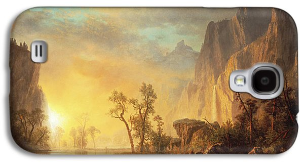 Sunset In The Rockies Galaxy S4 Case by Albert Bierstadt