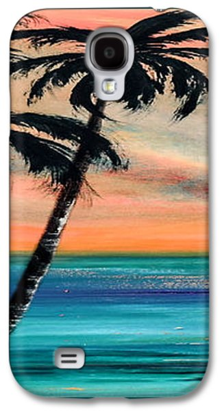Colorful Abstract Galaxy S4 Cases - Sunset in the Tropics Galaxy S4 Case by Gina De Gorna