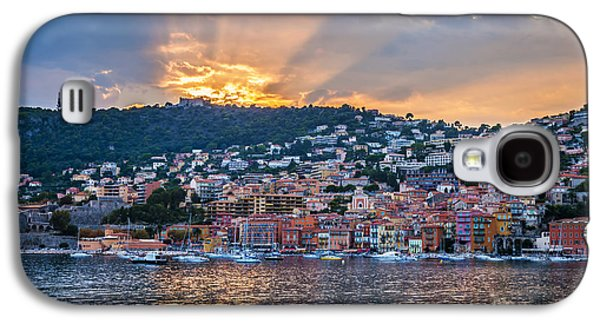 Landscapes Photographs Galaxy S4 Cases - Sunset in Villefranche-sur-Mer Galaxy S4 Case by Elena Elisseeva