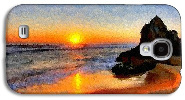 Abstract Digital Pastels Galaxy S4 Cases - Sunset On A Sunday H A Galaxy S4 Case by Gert J Rheeders