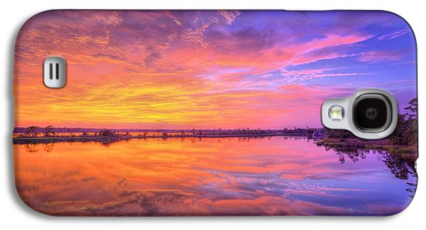 Florida Panhandle Galaxy S4 Cases - Sunset on the Black Water Galaxy S4 Case by JC Findley