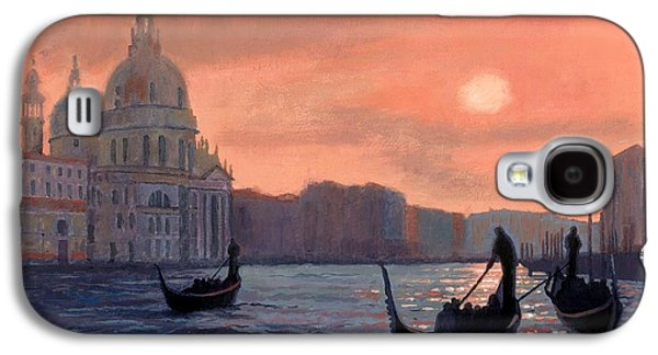 Sunset On The Grand Canal In Venice Galaxy S4 Case by Janet King