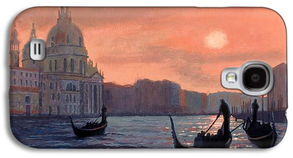Janet King Galaxy S4 Cases - Sunset on the Grand Canal in Venice Galaxy S4 Case by Janet King