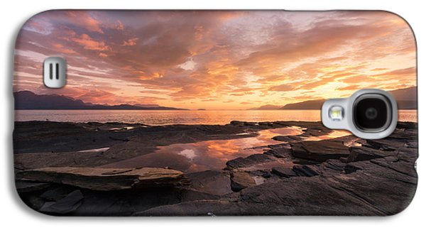 Norway Galaxy S4 Cases - Sunset on the rocks Galaxy S4 Case by Tor-Ivar Naess