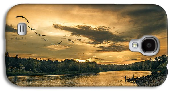 Sun Galaxy S4 Cases - Sunset On The Willamette River Galaxy S4 Case by Robert Bales