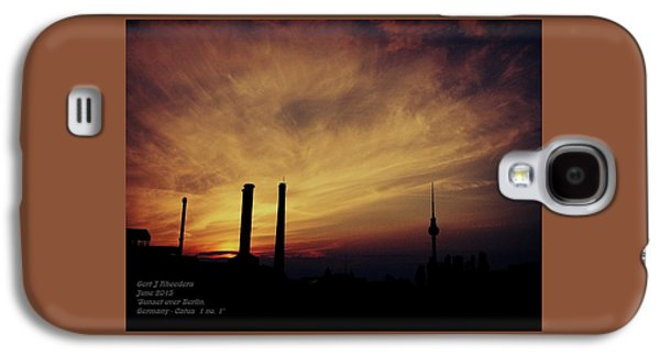 Abstract Digital Paintings Galaxy S4 Cases - Sunset over Berlin Catus 1 no. 1 H a Galaxy S4 Case by Gert J Rheeders