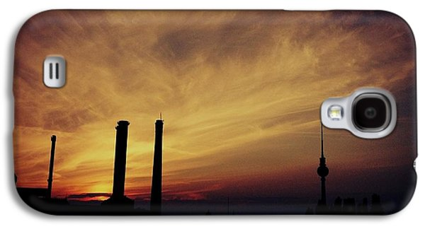 Abstract Digital Paintings Galaxy S4 Cases - Sunset Over Berlin Germany Catus 1 no. 1 H b Galaxy S4 Case by Gert J Rheeders