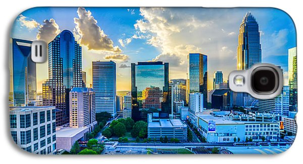 Business Galaxy S4 Cases - Sunset Over Charlotte City Skyline Of North Carolina Galaxy S4 Case by Alexandr Grichenko