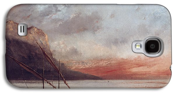Sunset Over Lake Leman Galaxy S4 Case by Gustave Courbet