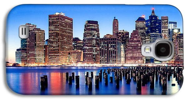 North American Photography Galaxy S4 Cases - Sunset Over Manhattan Galaxy S4 Case by Az Jackson