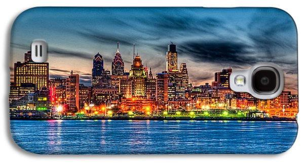 Sunset Over Philadelphia Galaxy S4 Case by Louis Dallara