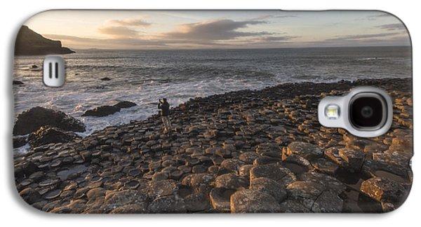 Fionn Mac Cumhaill Galaxy S4 Cases - Sunset over the Causeway Galaxy S4 Case by Euan Cherry
