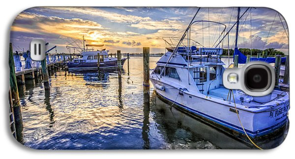 Beach Landscape Galaxy S4 Cases - Sunset over the Docks Galaxy S4 Case by Debra and Dave Vanderlaan