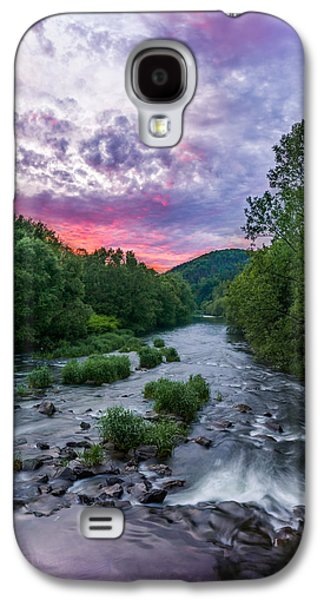 Sunset Galaxy S4 Cases - Sunset over the Vistula in the Silesian Beskids Galaxy S4 Case by Dmytro Korol