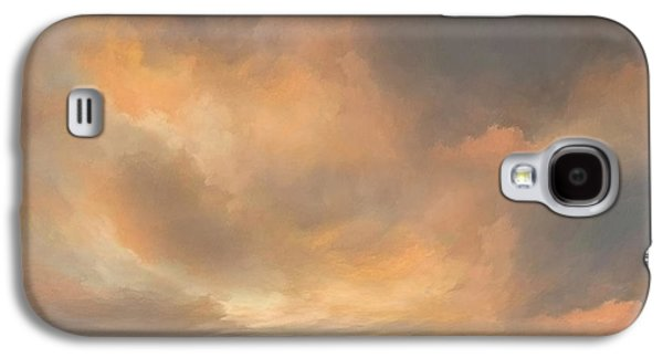 Sunset Over Valley Galaxy S4 Case by Lonnie Christopher