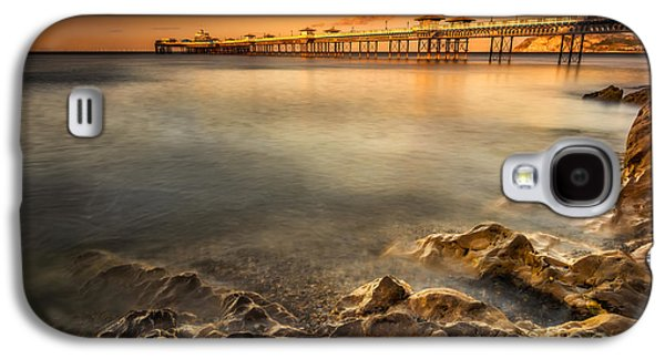 Pier Digital Galaxy S4 Cases - Sunset Pier Galaxy S4 Case by Adrian Evans