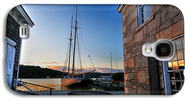 Historic Schooner Galaxy S4 Cases - Sunset Reflections - Mystic Seaport Galaxy S4 Case by Thomas Schoeller