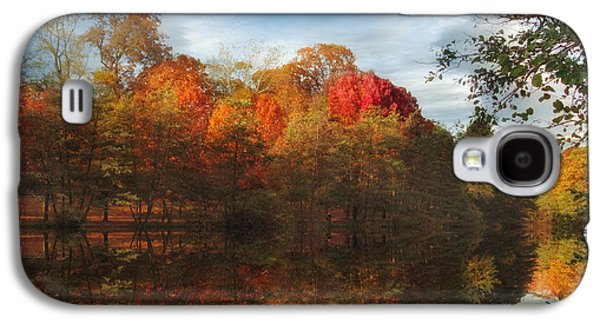 Autumn Foliage Photographs Galaxy S4 Cases - Sunset Reflections Galaxy S4 Case by Jessica Jenney
