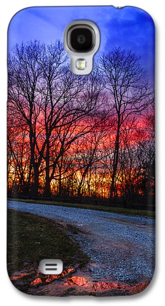 Sunset Road Galaxy S4 Case by Alexey Stiop